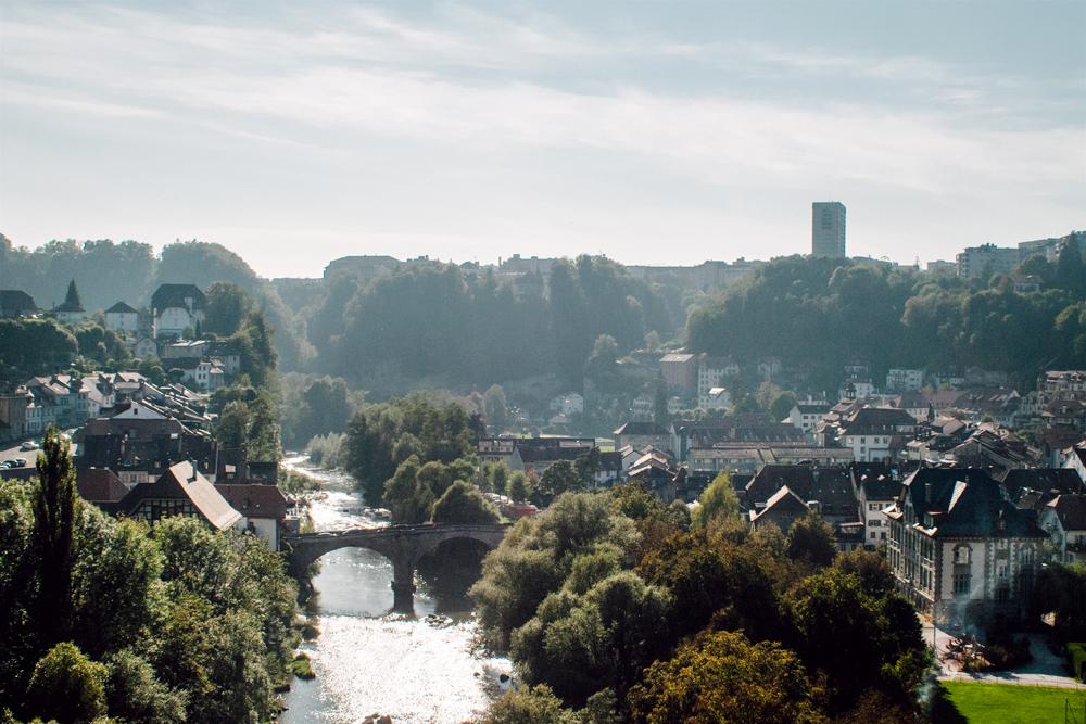 Fribourg – Vue depuis la Terrasse du Belvédère