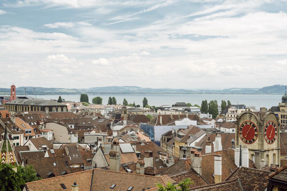 Neuchâtel –Vue depuis le Chateau