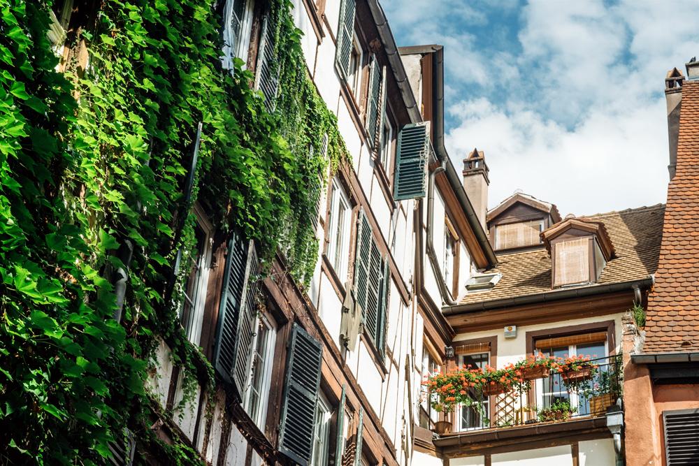 Strasbourg – Cour intérieure dans la vieille ville