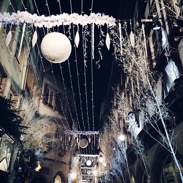 Les décorations de Noël de la Rue des Orfèvres, Strasbourg