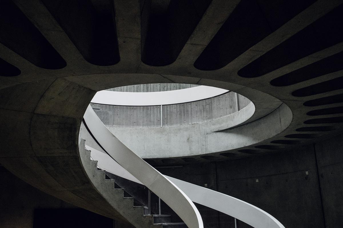 Lyon – Escalier en spirale du musée gallo-romain