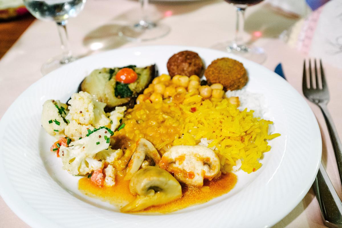 Buffet indien végétarien