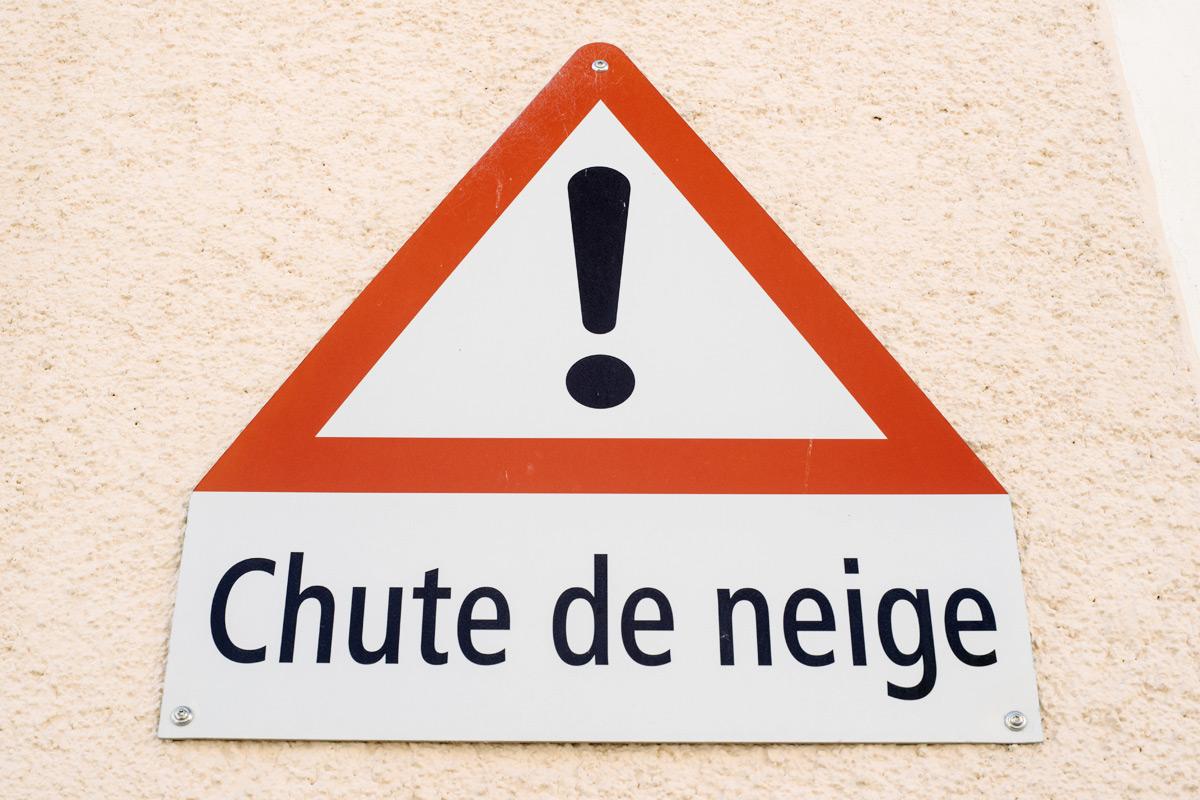 La Chaux-de-Fonds – Attention, chute de neige !