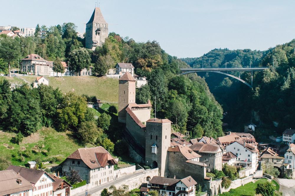 Fribourg – Vue depuis le Pont de Zaehringen