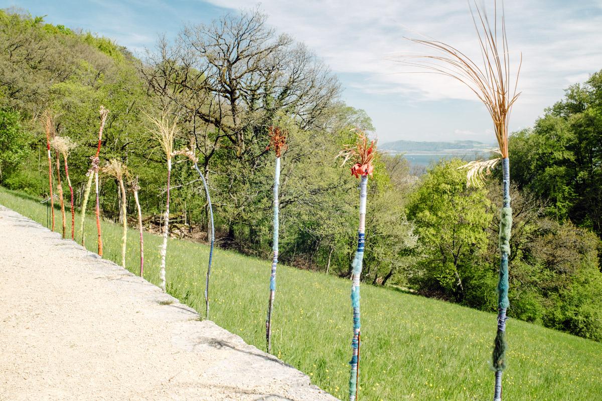 Jardin botanique de Neuchâtel, Land Art 2016 – Les migrants du jardin (Ruben Pensa)