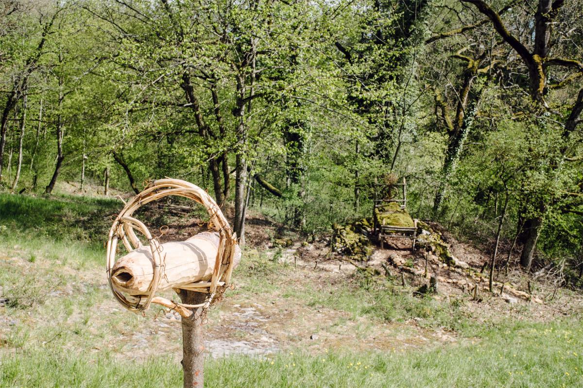 Jardin botanique de Neuchâtel, Land Art 2016 – Aussicht auf Erholung (Leander & Erika Locher)