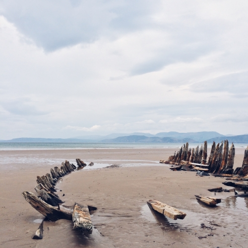 Road trip en Irlande – L'épave du Sunbeam, échoué à Rossbeigh beach depuis plus de 100 ans