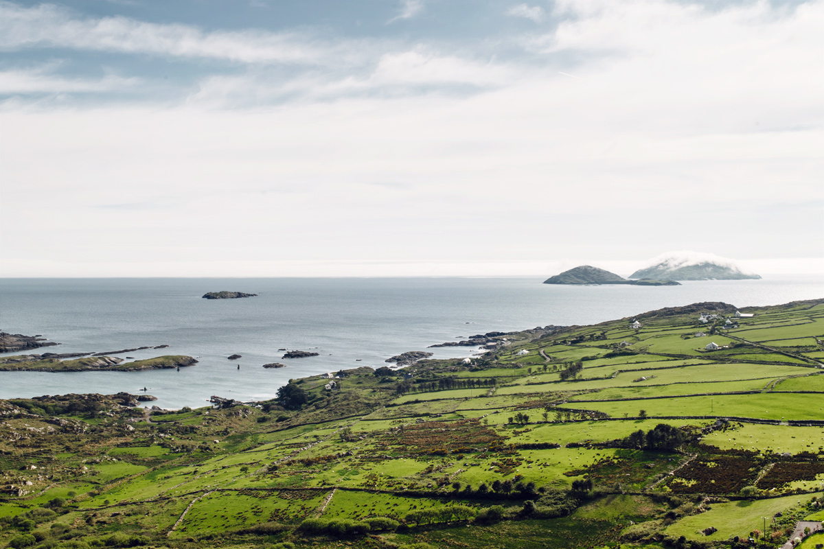 Vue sur la côte Atlantique depuis le Ring of Kerry
