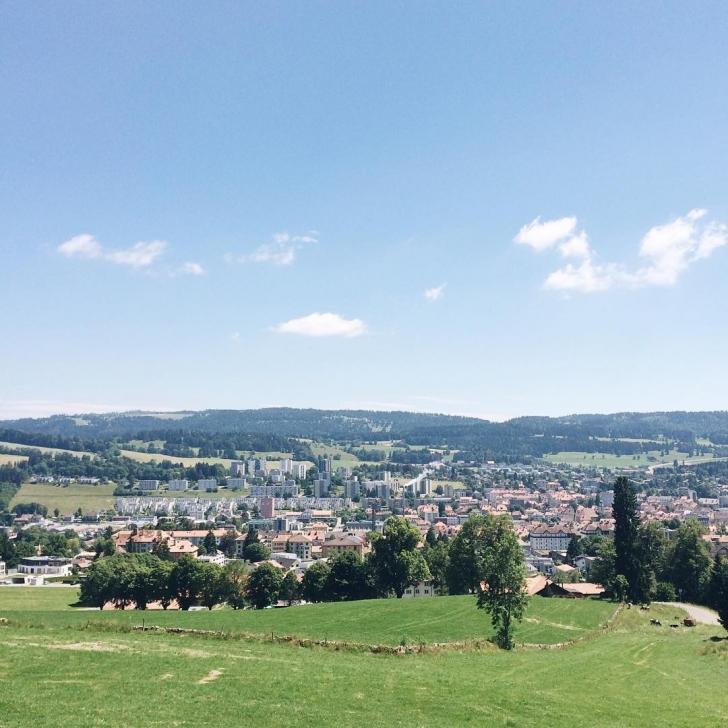 La vue depuis les hauteurs de la Chaux-de-Fonds