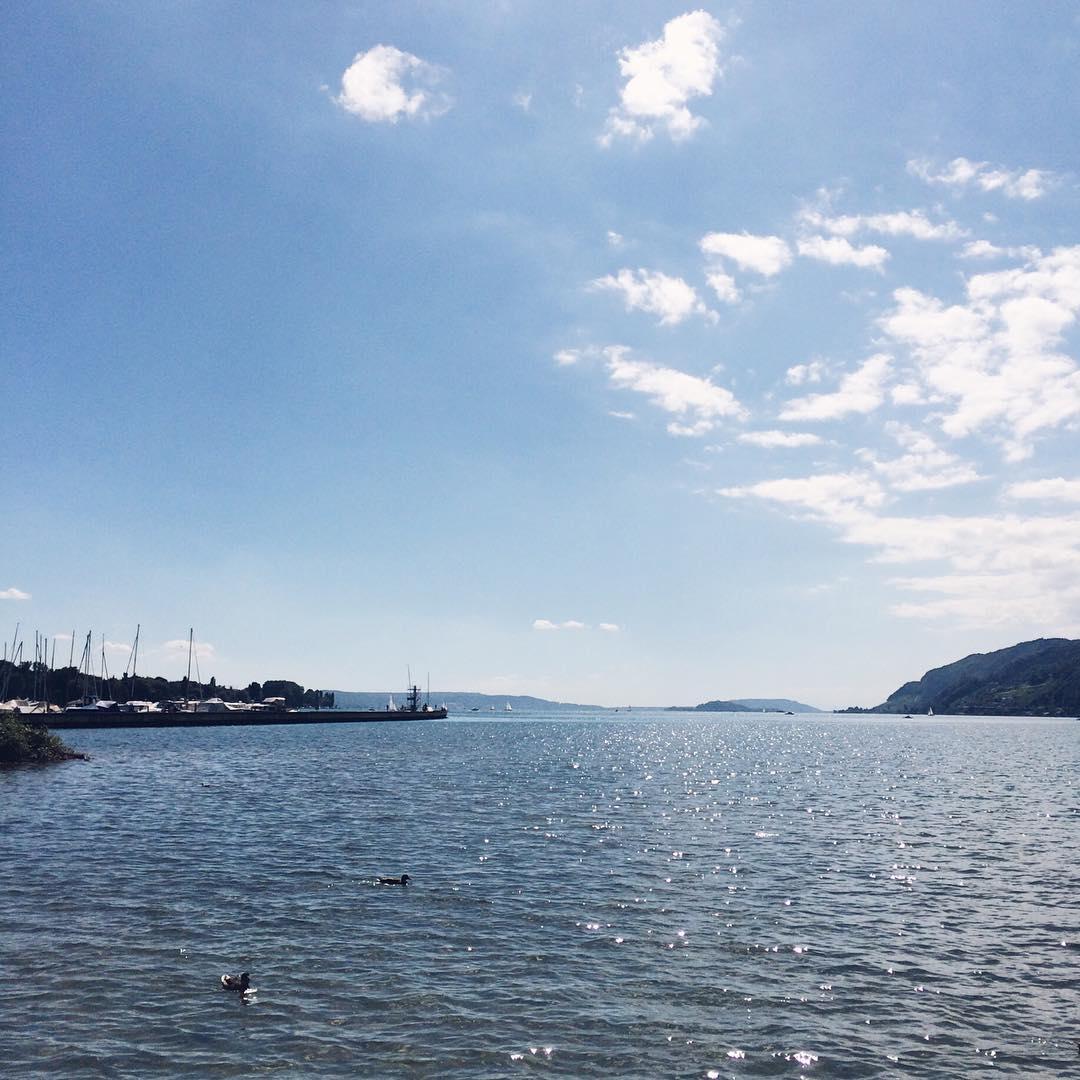 Le bord du lac de Bienne