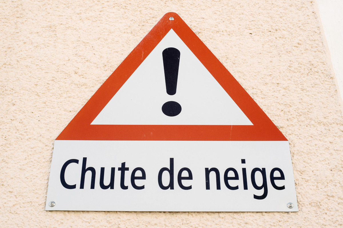 La Chaux-de-Fonds – Attention, chute de neige !