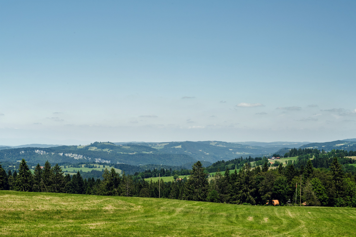 La Chaux-de-Fonds –Vue depuis le Chemin de la Sombaille