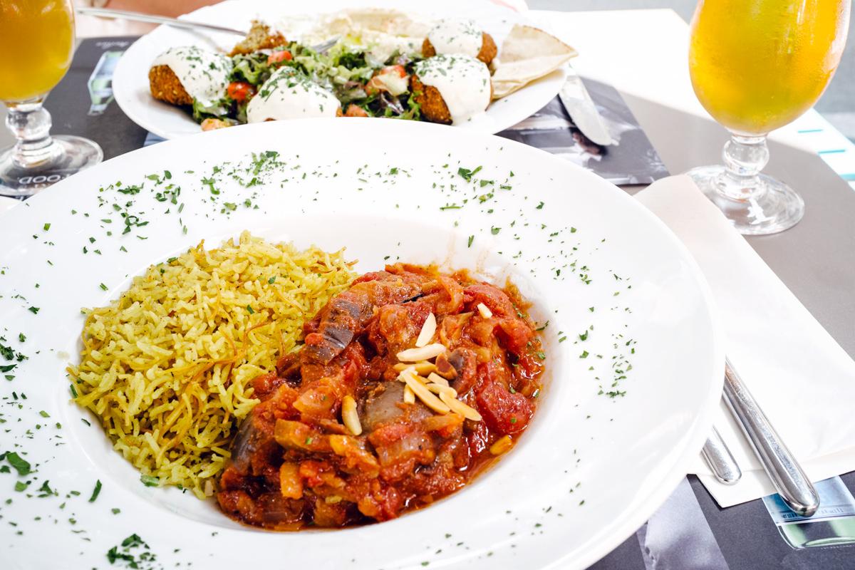 Moussaka libanaise et riz épicé