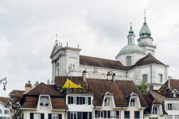 Soleure, la vieille ville et la cathédrale