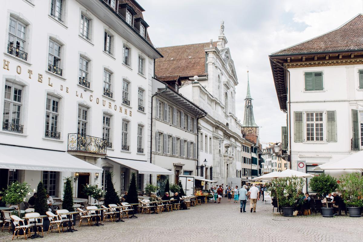 Soleure, Place de la Couronne et Hauptgasse