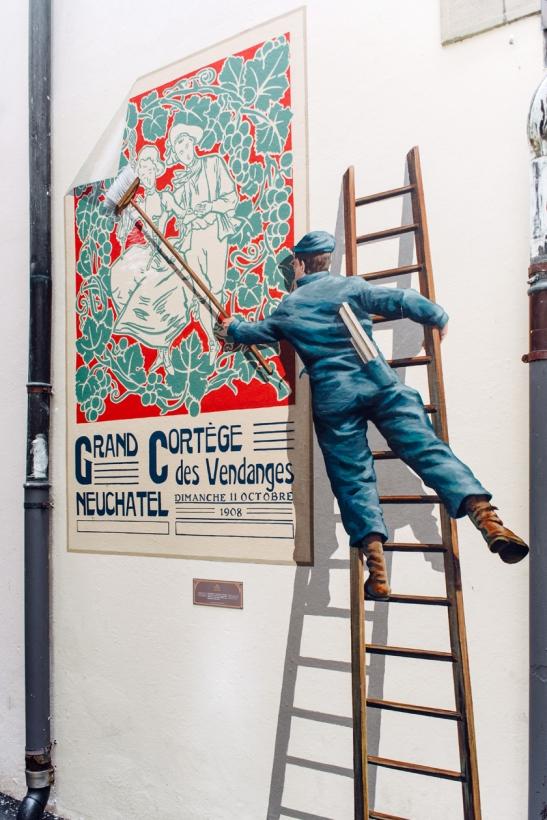 Neuchâtel à la Belle Époque – Reproduction d'une ancienne affiche de la Fête des Vendanges