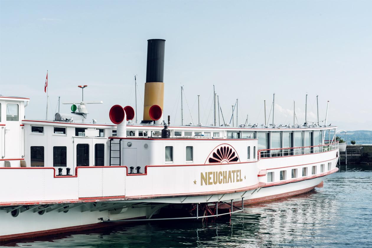 """Neuchâtel à la Belle Époque – Bateau à vapeur """"Neuchâtel"""""""