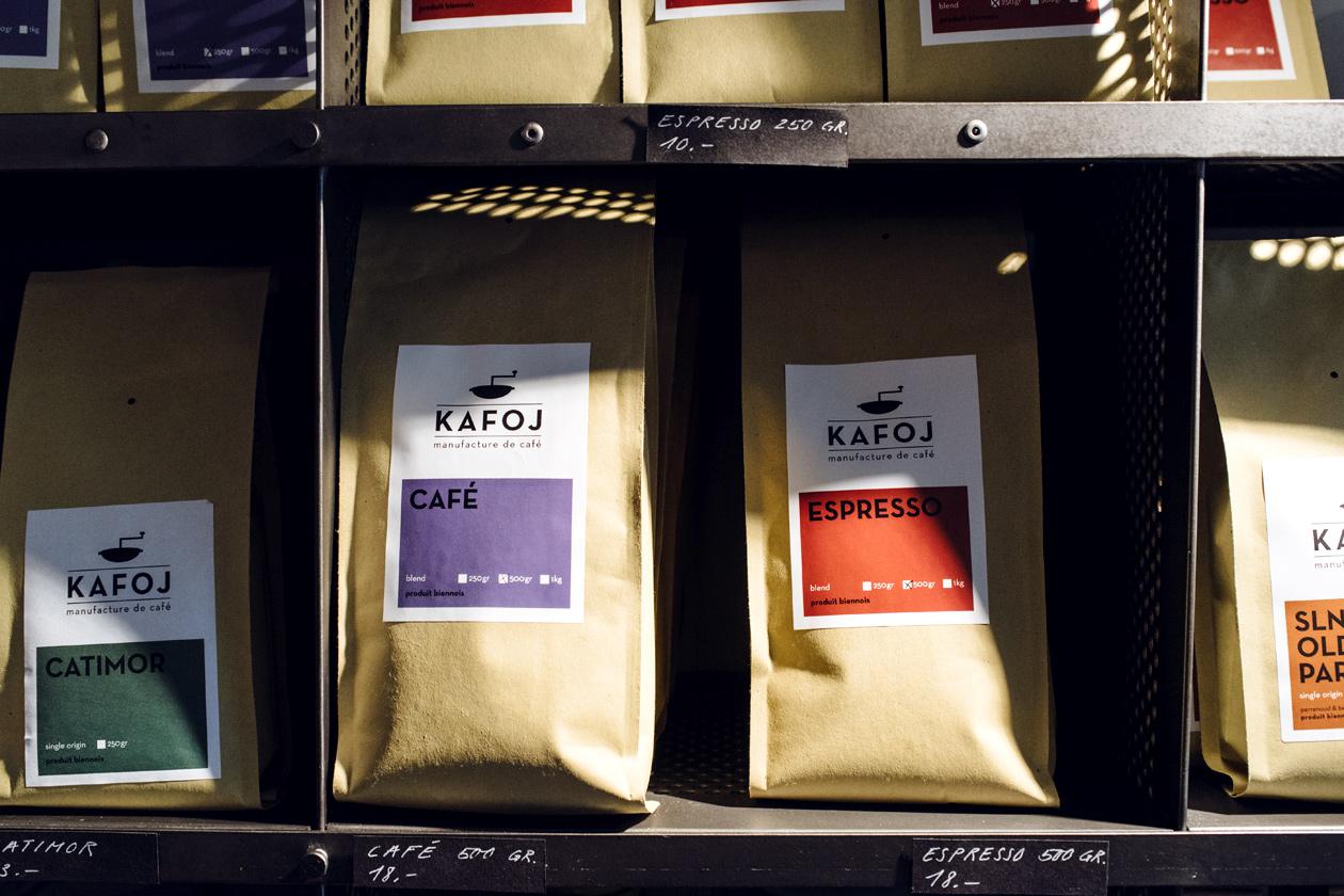 Vieille ville de Bienne – Kafoj, manufacture de café – Sachets de café