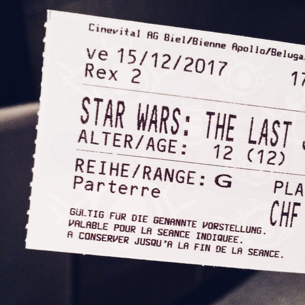 Au cinéma: Star Wars, the last Jedi