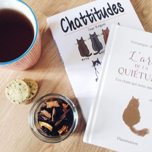 Après-midi de vacances: thé, sablés et lecture