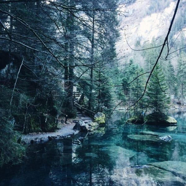 Excursion dans l'Oberland bernois: le Blausee