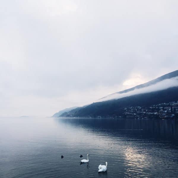 La fin de journée au bord du lac de Bienne
