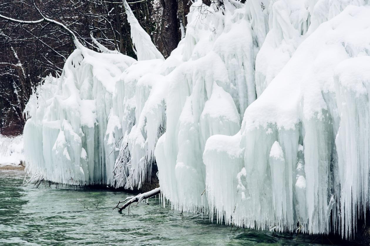 Plage de Boudry sous la glace, mars 2018