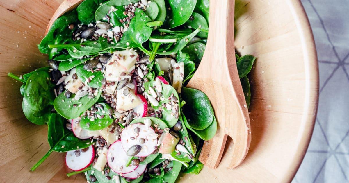 Une semaine de repas végétaliens – Avril