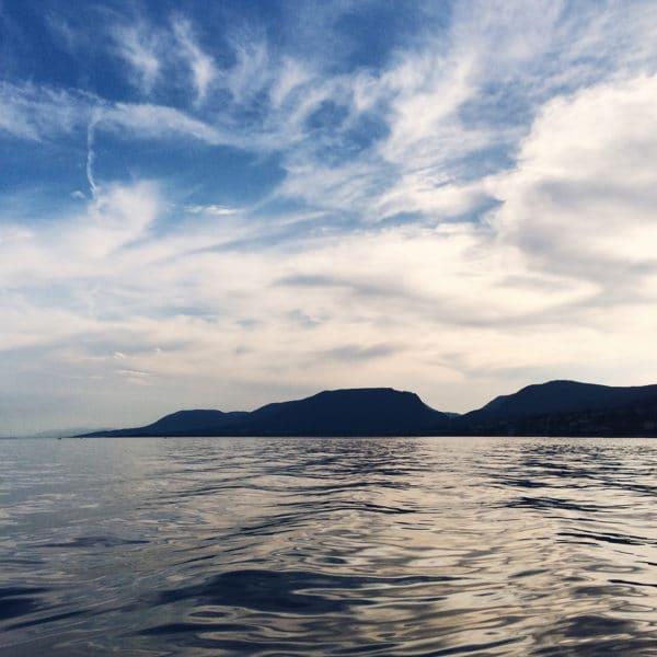 Fin de journée sur le lac de Neuchâtel