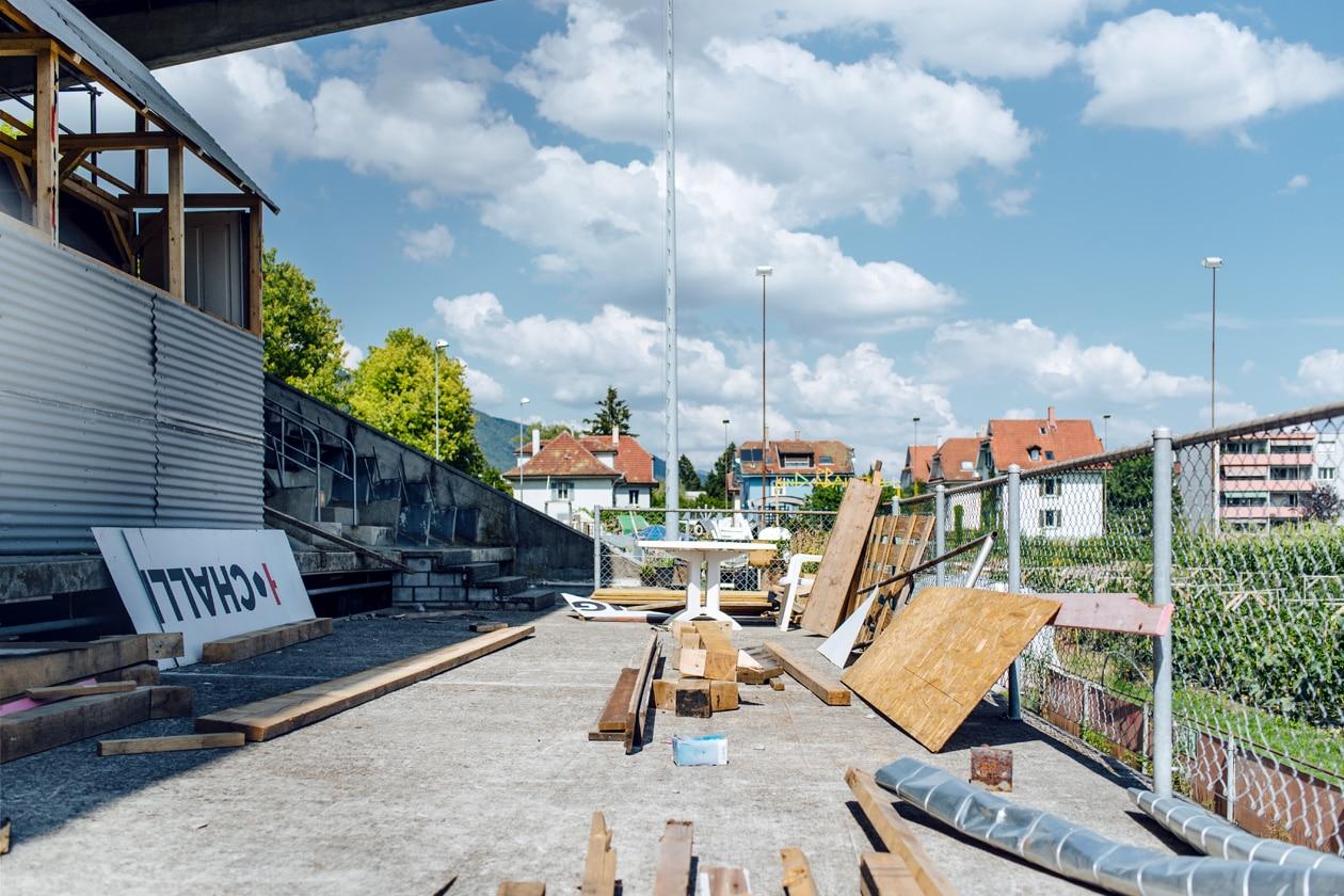 Terrain de la Gurzelen, Bienne – Anciennes tribunes