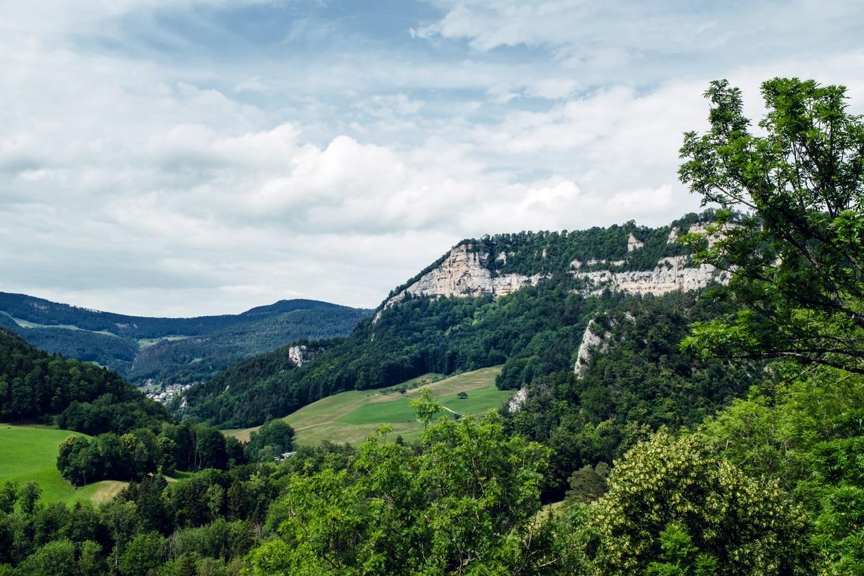Vue sur le Parc Régional de Thal depuis les ruines du Château de Neu-Falkenstein