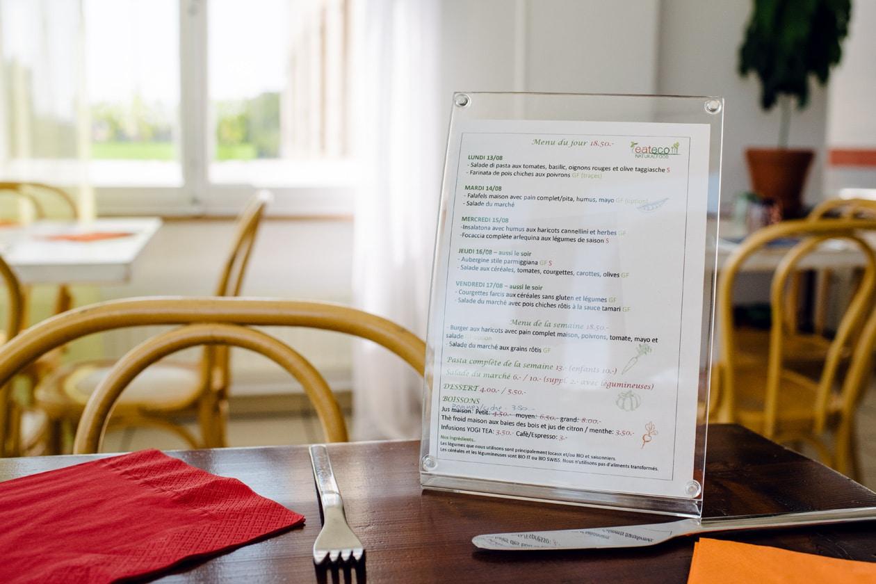 Eateco, restaurant et take away végétalien à Neuchâtel