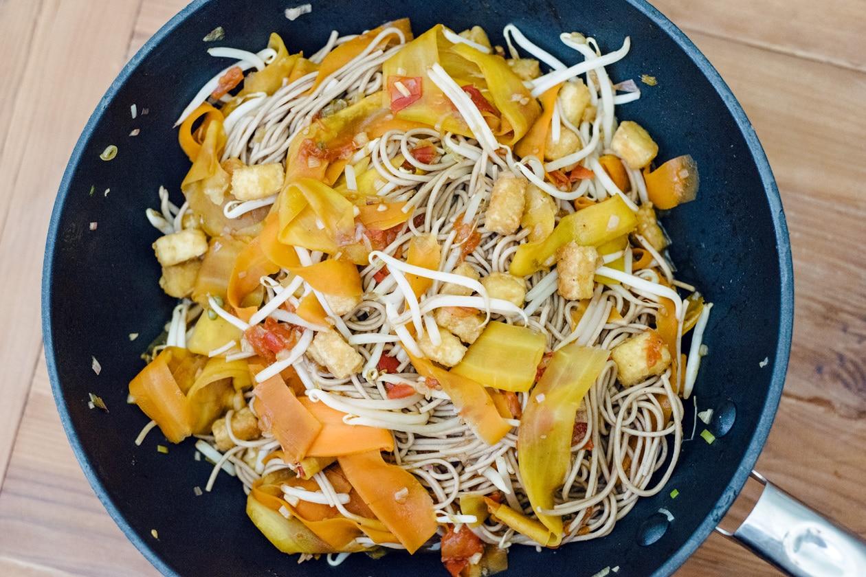 Pad thaï aux nouilles soba