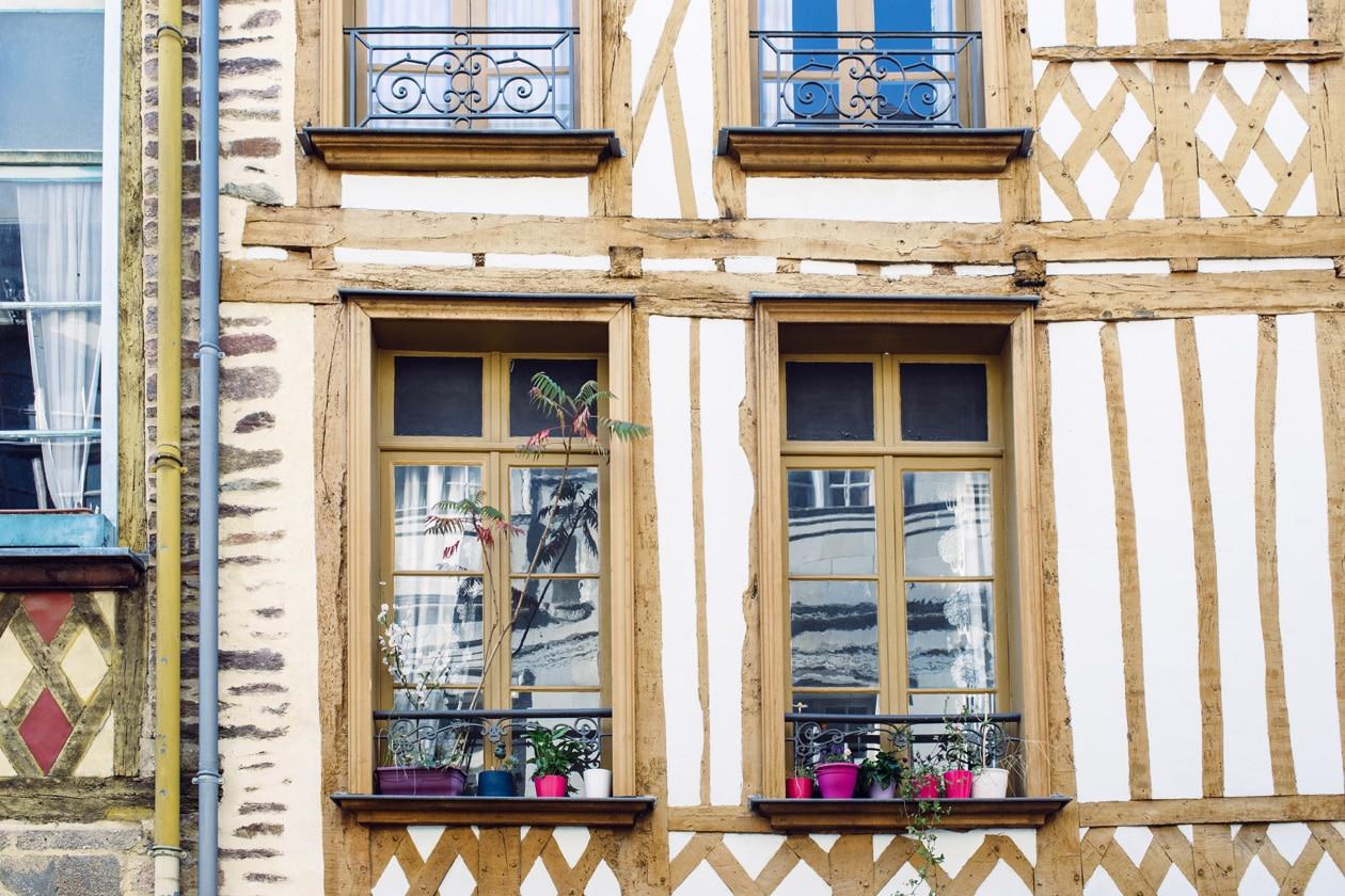 Balade dans les rues du vieux Rennes