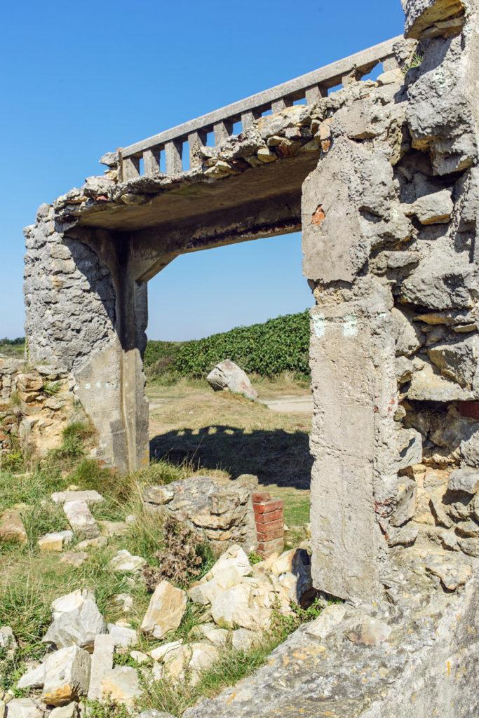 Bretagne: ruines du manoir de Saint-Pol-Roux à Camaret-sur-Mer