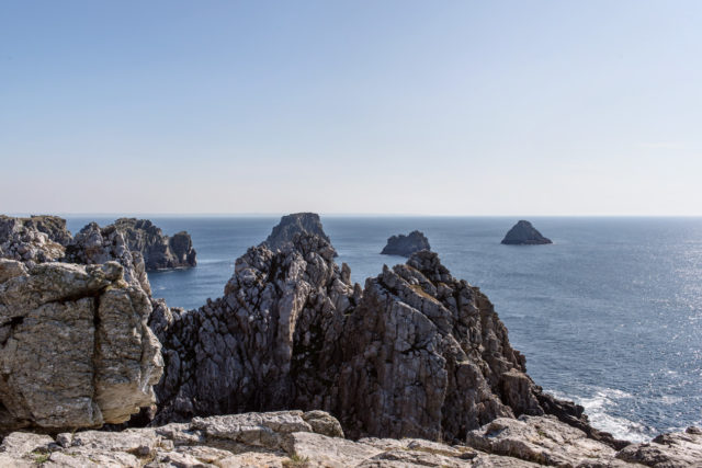 Bretagne: sentier côtier entre Camaret-sur-Mer et la pointe de Pen-Hir