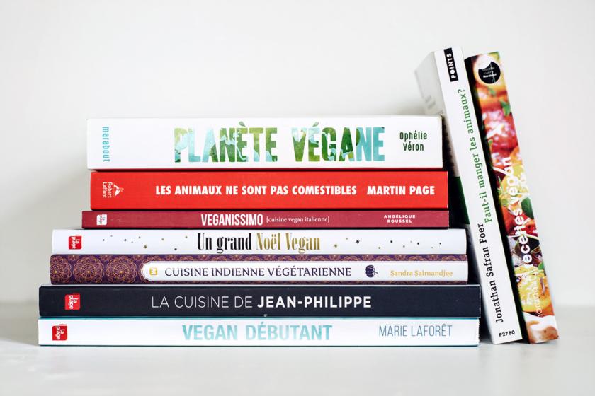 Essais antispécistes et livres de cuisine végétalienne