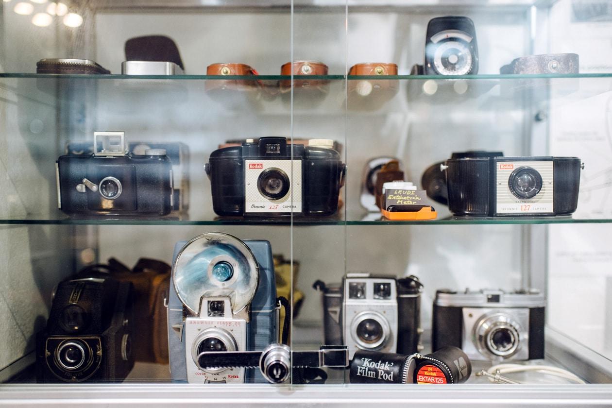 Visite du Camera Museum à Londres –Collection d'appareils photo anciens