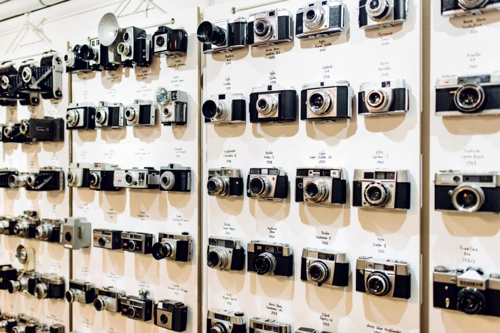 Visite du Camera Museum à Londres – Collection d'appareils photo anciens