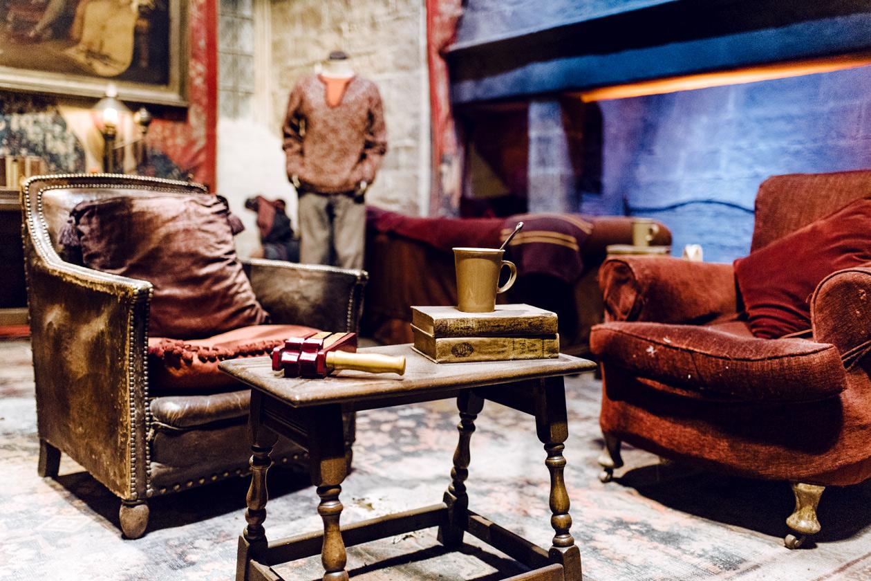 Visite des Studios Harry Potter à Londres – Décors de la salle commune de Griffondor