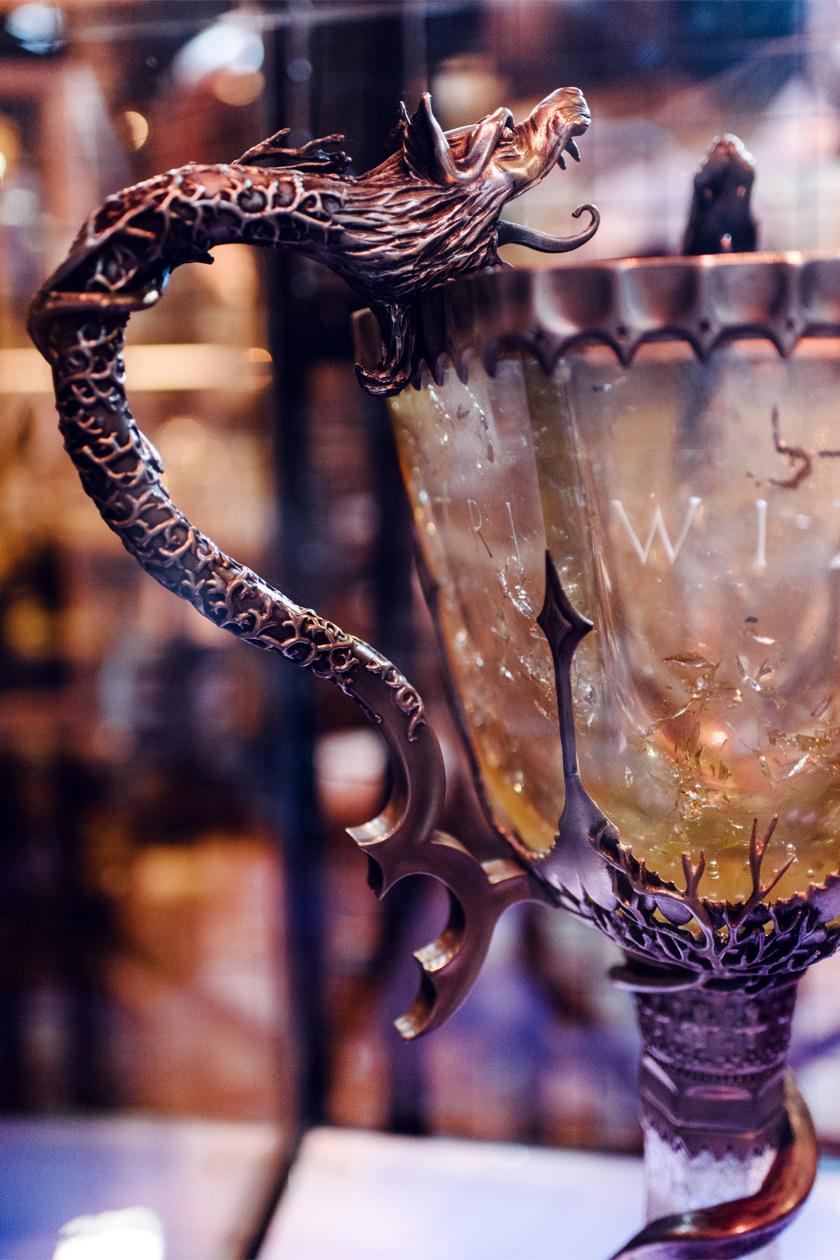 Visite des Studios Harry Potter à Londres – Détail de la coupe du Tournoi des Trois Sorciers