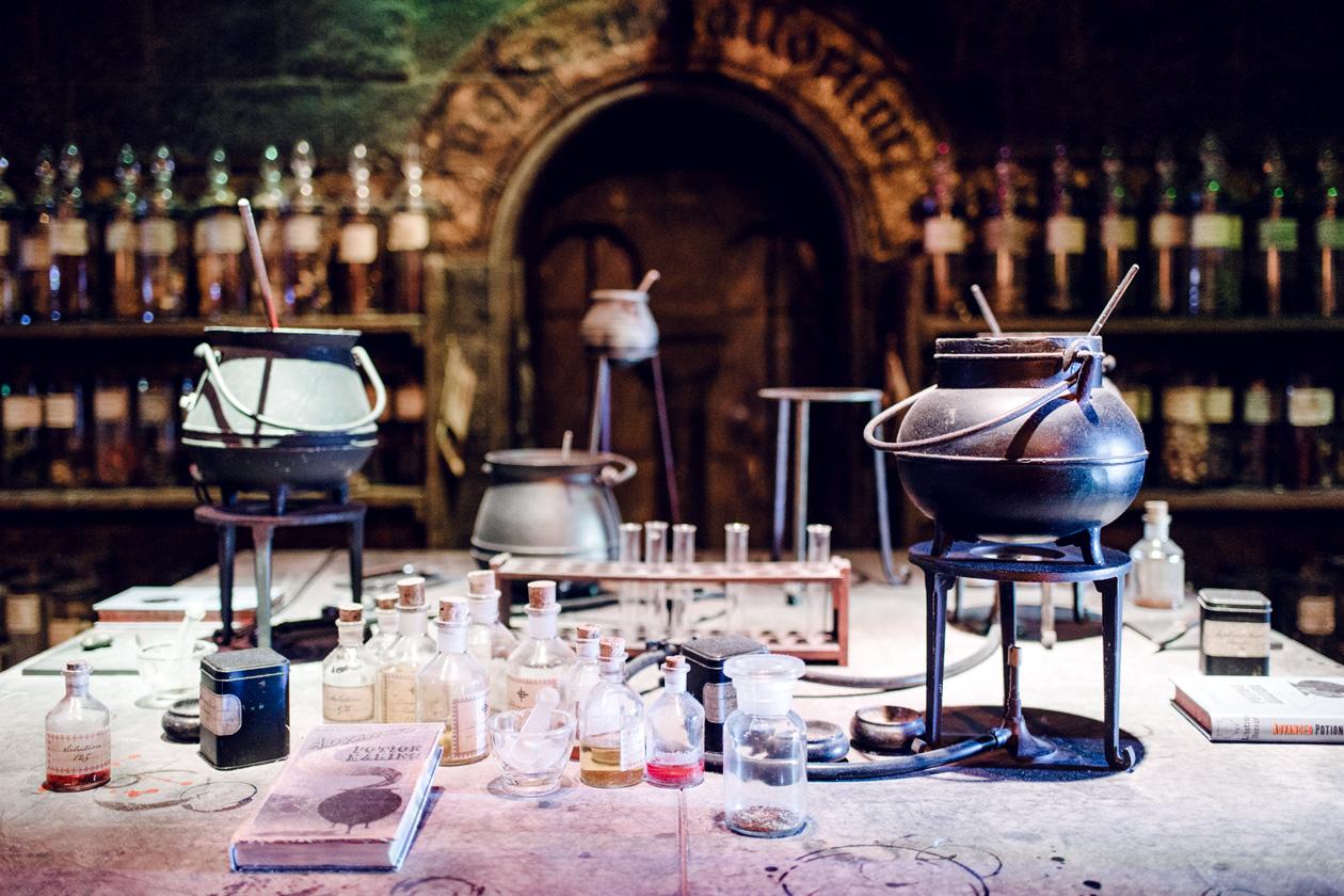 Visite des Studios Harry Potter à Londres – La salle de cours de potions
