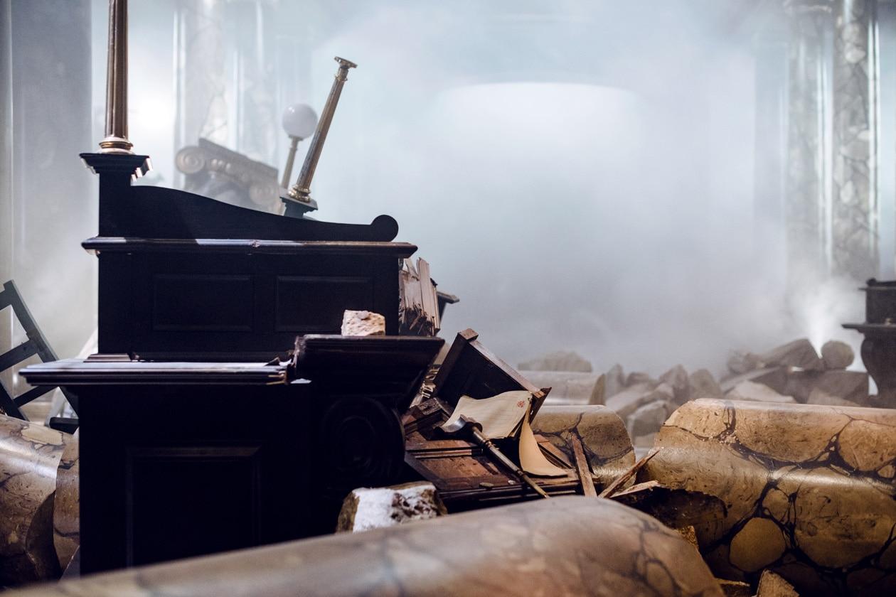 Visite des Studios Harry Potter à Londres – Le hall de Gringotts détruit après l'évasion du dragon