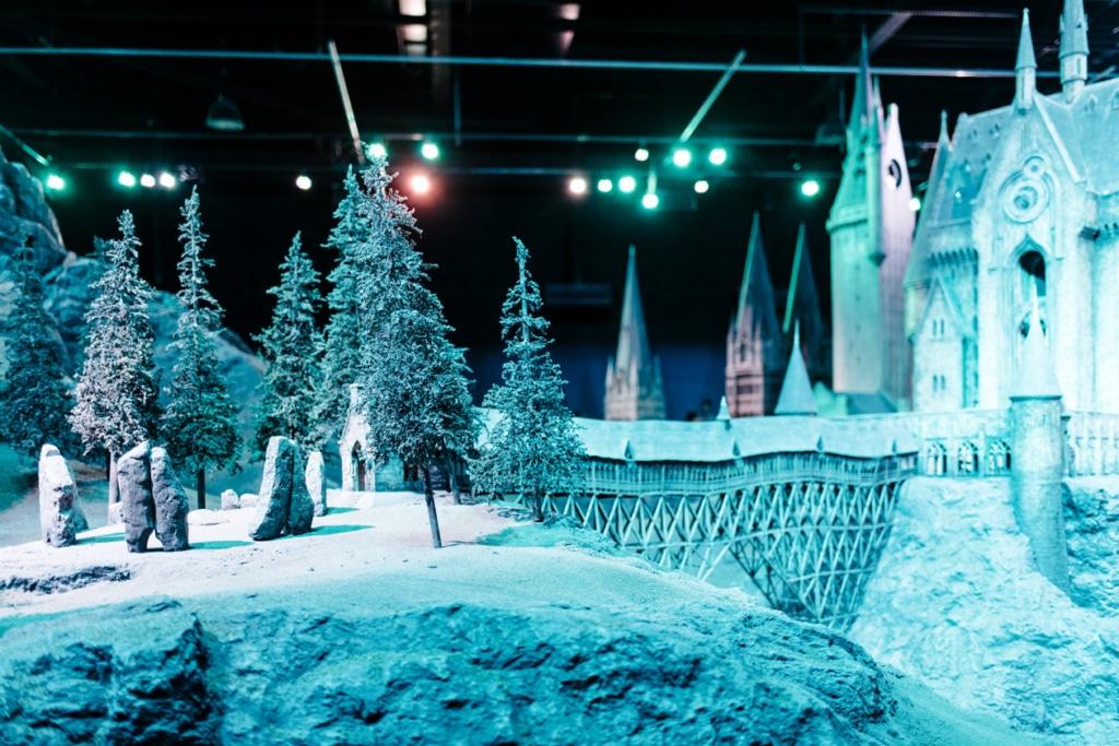 Visite des Studios Harry Potter à Londres – Maquette du château de Poudlard à l'échelle 1:24