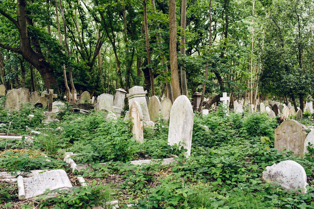 Visite du cimetière de Highgate, dans le nord de Londres