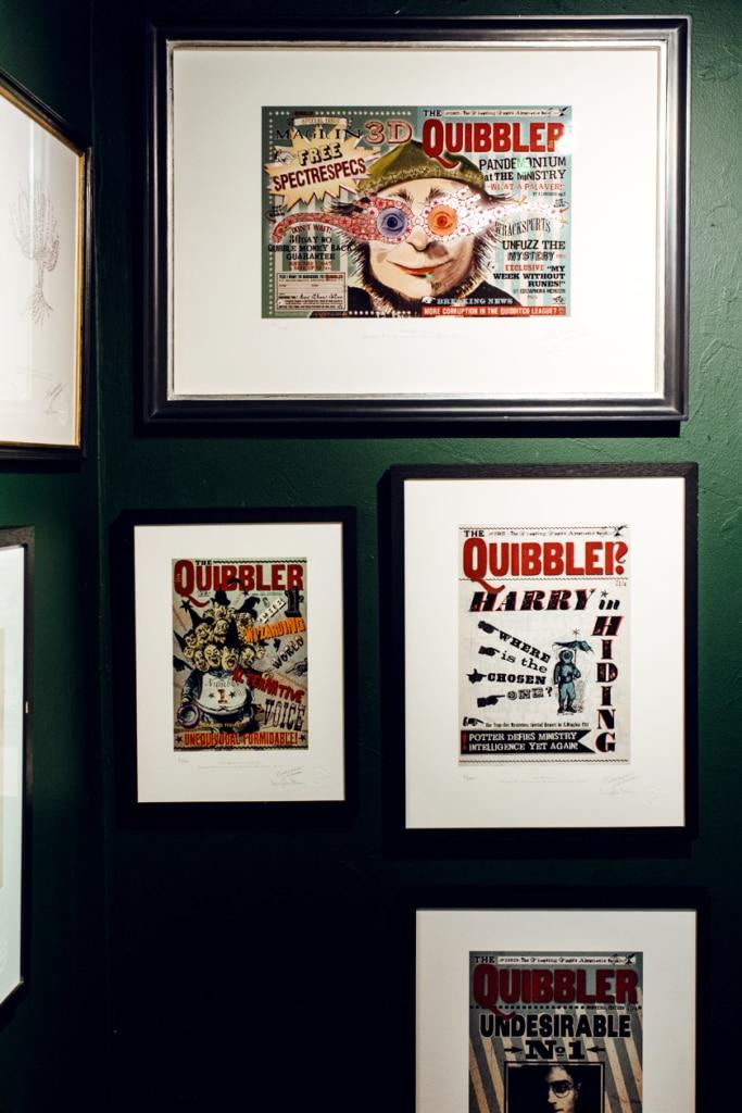 """Visite de House of MinaLima à Londres – Maquettes du """"Quibbler"""""""