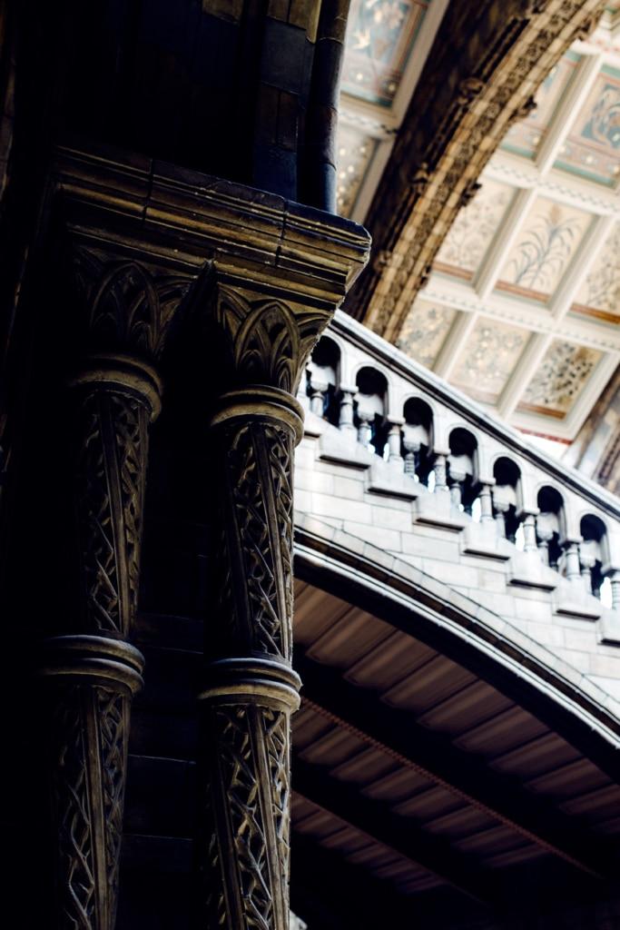 Détail architectural du hall d'entrée du Musée d'Histoire Naturelle de Londres