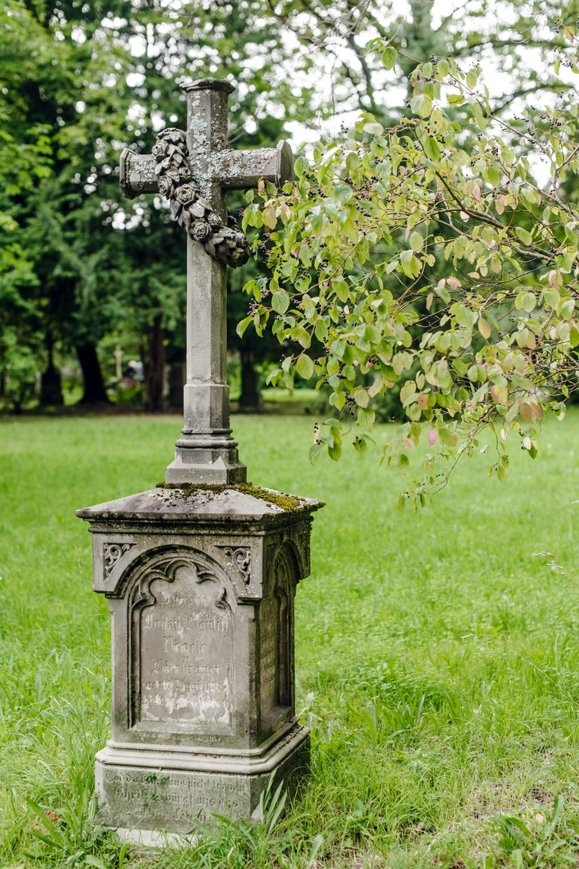 Freiburg im Breisgau – Tombe de l'ancien cimetière du Neuburg