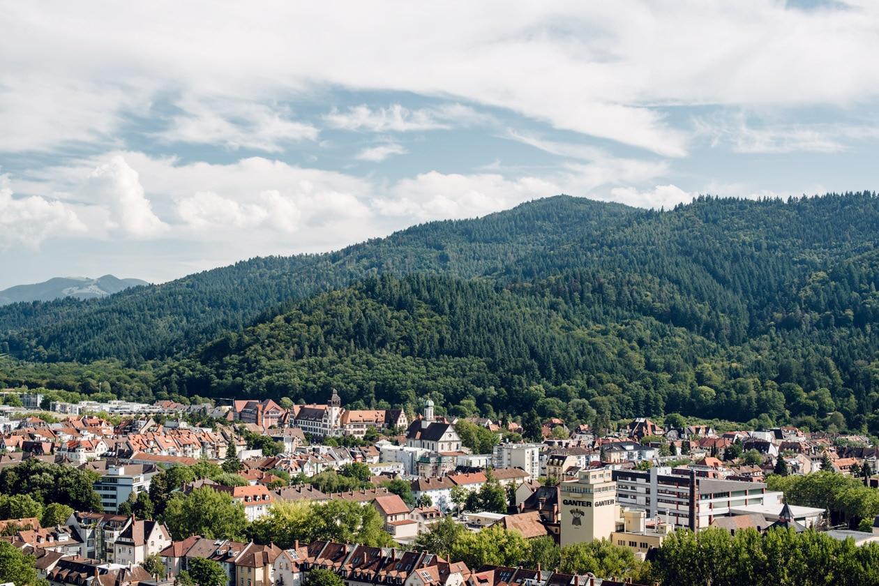 Freiburg im Breisgau – Vue sur la ville depuis la colline du Schlossberg