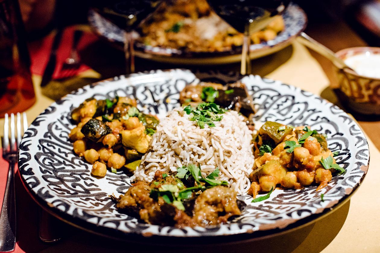 Assiette végétalienne chez Orient Experience à Venise